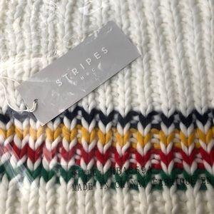 NWT HBC Stripes Multistripe Hand-Knit Scarf